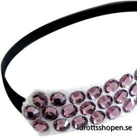 Pastorelli hårband svart lila