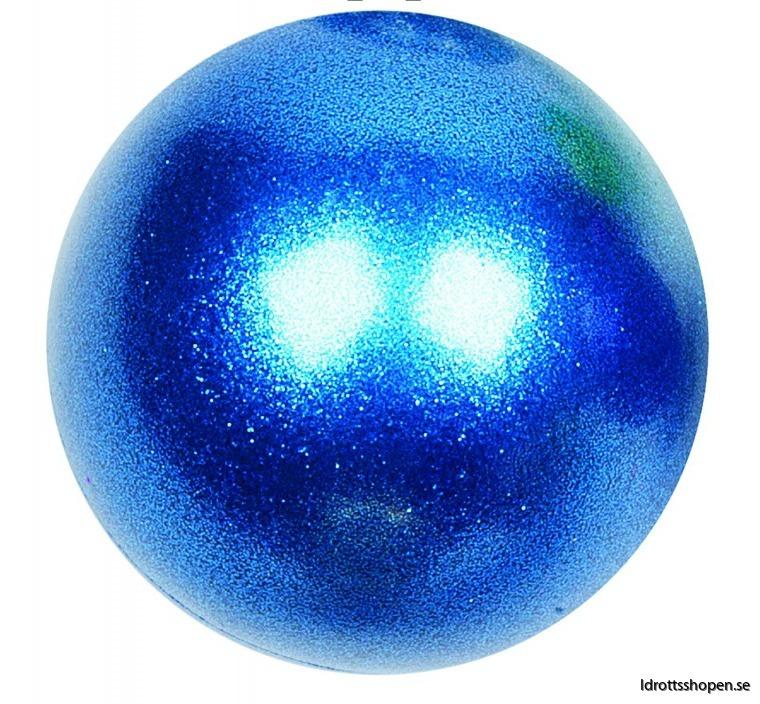 Amaya boll 16 cm blå glitter