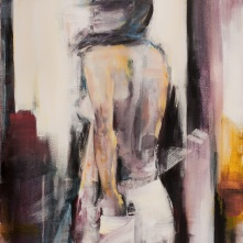 "©Karin Holmström ""La feminista"" Acrylic 60x80cm"