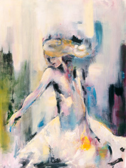 GICLEÉ WOMEN - Girl on Fire A2 format, bildytan 35x46cm. Upplaga 10st