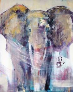 GICLÉE ELEPHANTS - Rör inte min kompis A2