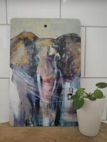 SKÄRBRÄDA Elefantmotiv - Skärbräda