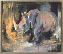 "©Karin Holmström ""Pondus"" 92x107cm Acrylic framed"
