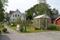 Växthus och huset