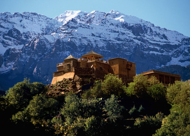 Hotell Atlas Toubkal i Atlasbergen är ett av Marockoresans favoriter.