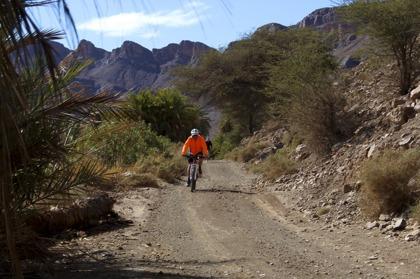 Det blir alltmer populärt att cykla i Marocko. Här i Draa-dalen.