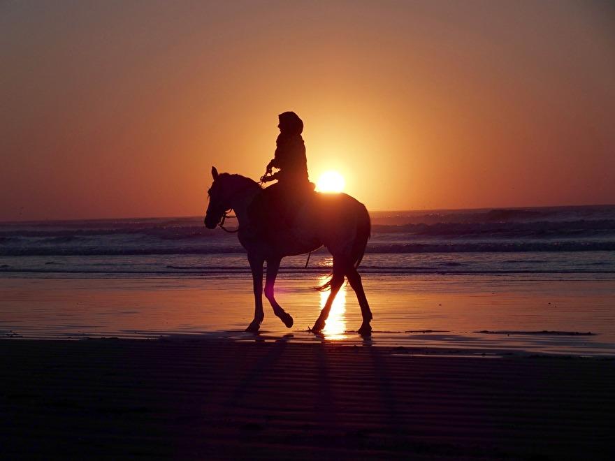 Rida häst, rida dromedar, åka landrover, vandra. Marockoresan.se skräddarsyr din upplevelseresa som du vill ha den. Foto från Essaouira.