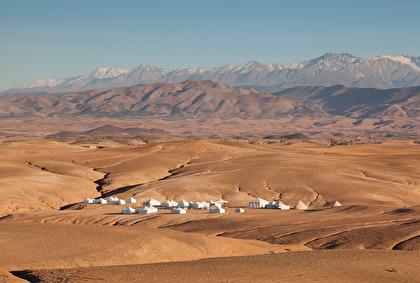 Det ser ut som öknen, men är inga riktiga sanddyner i Agafay.