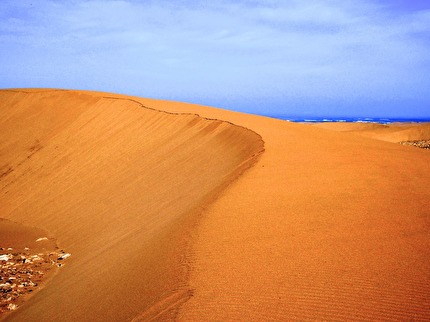Vandringstur med kombinationen sanddyner och hav är magisk.