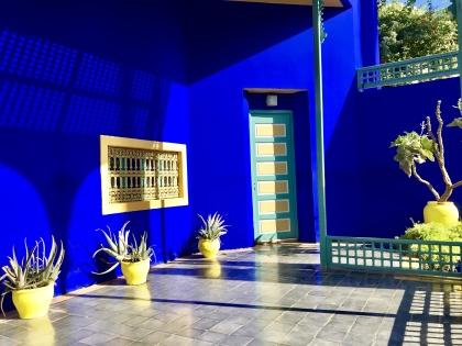 Vi besöker Majorelles trädgårdar och  Yves Saint Laurent-muséet
