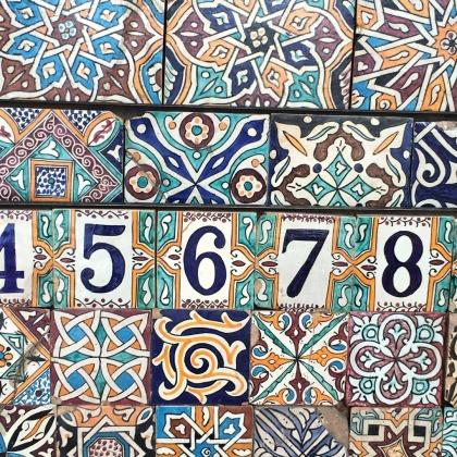 Marockansk zelligh och keramik är bara det värt en resa!