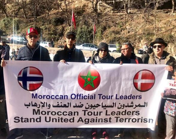 Från Bergens dag i Imlil, som istället blev en manifestation mot våld och terrorism!