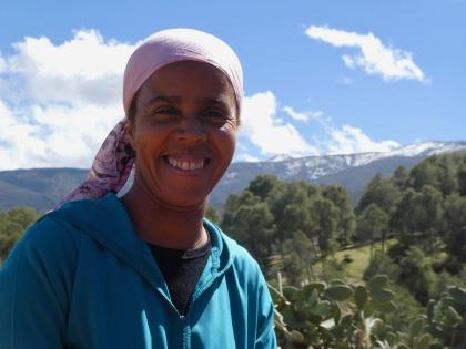 Latifa är en av få kvinnliga bergsguider i Marocko.