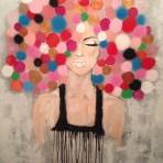 Passion, 100x100 cm, akryl + spray, 6900 kr