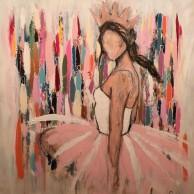 Queen of sensetivity, 100x100 cm
