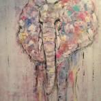 Elephant, 100x80 cm