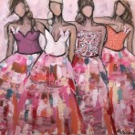 Girls in the city, 100x120 cm 12 900 kr