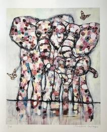 Fine Art print, Elefant - Gränslös kärlek 50 x 60 cm