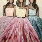 Independent Ladies 100 x 120 cm, akryl. (Den här målningen säljs via Nordic Art Wall)
