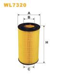 Oljefilter Wix 2.4/2.4D/D5/2.5T/2.5FT