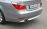 Sportavgassystem bakre dämpare BMW E60 520/523/525/530  (2x80)
