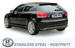 Sportavgassystem AUDI S3 / A3(8P) Quattro 1.8/2.0TFSi 05-