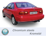 Sportavgassystem Bakre ljuddämpare HONDA Civic V+VI Sedan/Coupé
