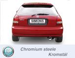 Sportavgassystem Bakre ljuddämpare HONDA Civic V Kombi-Sedan