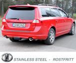 Sportavgassystem Volvo V70 III / XC70 III  T6