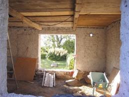 Vardagsrummet under utgrävning