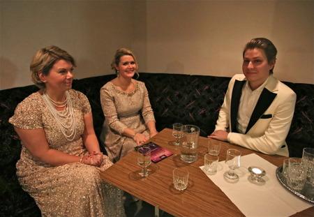 Solisterna AnnLouice Lögdlund, Anna-Maria Krawe och Ole Aleksander Bang.