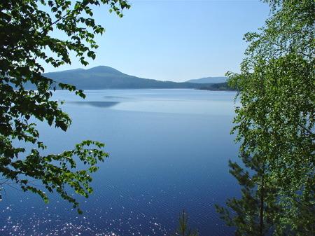 Höljessjön som även är vattenmagasin för kraftstationen vid Höljesdammen.