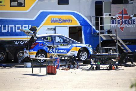Frode Holte Motorsport var på motorstadion i Höljes för tester.