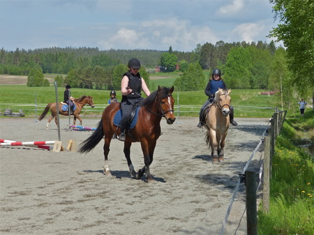 Ryttartävling på Mosseruds gård i Vännacka.