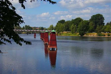 Dykdalber i Klarälven - foto  Peter Labraaten.