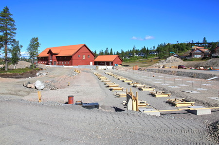 12 augusti 2015 - Vid Ladan byggs ett hotell.