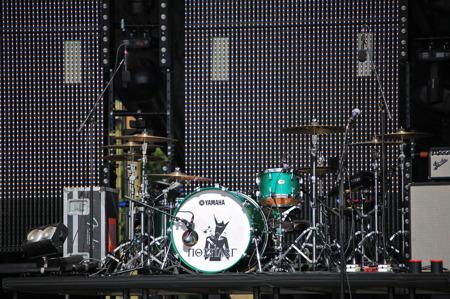 Många instrument var redan på plats.