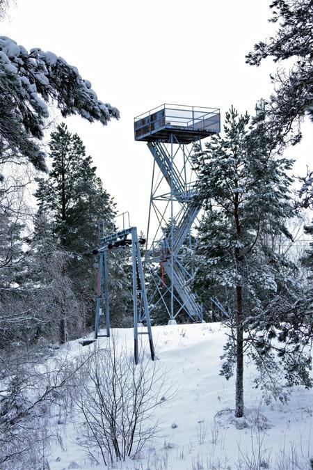 Utsiktstornet på Valfjällets topp.
