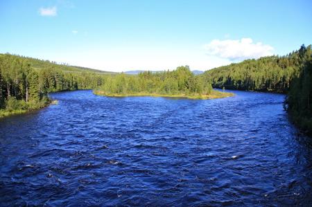 Klarälven norr om Sysslebäck.