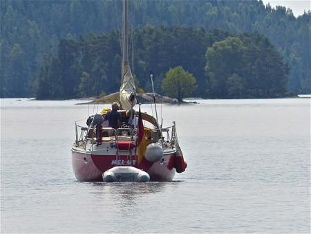 Färden går vidare söderut på sjön Lelång och Dalslands Kanal mot hemmahamn i Tyskland.