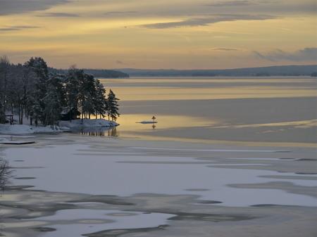 Sjön Foxen i riktning mot Lennartsfors.