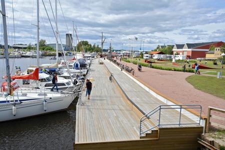 Kristinehamns Gästhamn med ställplats för husbilar.