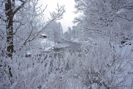 Älven är en del av en kanotled som sträcker sig från sjön Aspen ner till Svanskog.