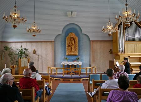 Östervallskogs kyrka.