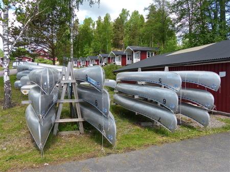 Sandvikens camping hyr även ut kanoter.