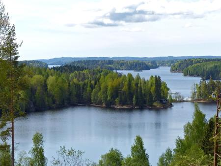 Sjön Foxen sträcker sig söderut mot Västra Fågelvik och vidare ner till Lennartsfors.