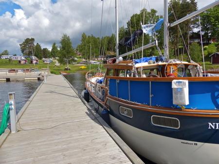 Det kommer ofta långväga gäster via Dalslands Kanal.