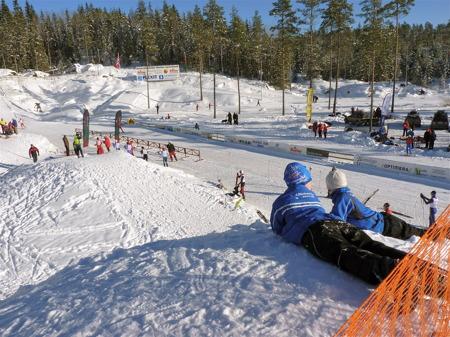 Kölen Sportcenter på gränsen mellan Sverige och Norge.