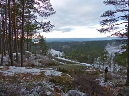 Utsikt från Ulvefjäll öster om Töcksfors.