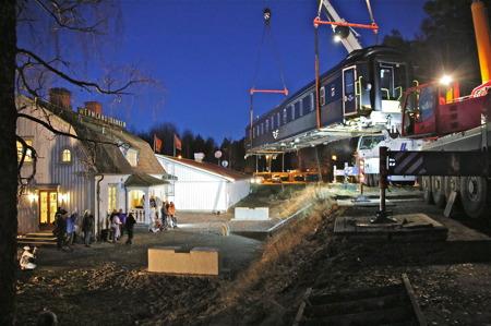 Sovvagnen landar vid Silleruds station.